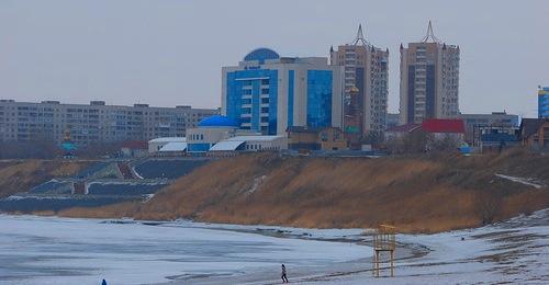 Река Иртыш. Вид на Гусиный перелет.