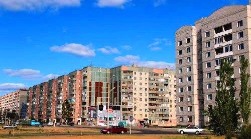 Новые жилые микрорайоны города.