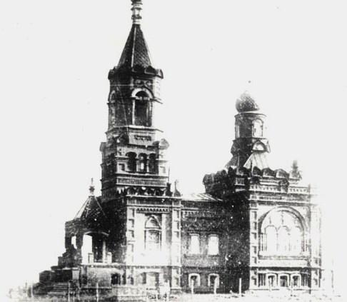 Церковь Воскресенская кладбищенская. Фотография Д.П. Багаева, 1928 год.