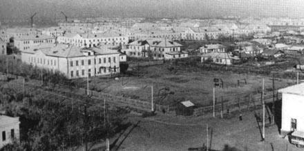 Город Экибастуз. Фотография конца 70-ых годов прошлого столетия.
