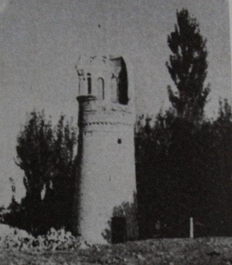 Минарет Хызыра Пайгамбара. Фотография 60-х годов XX века.