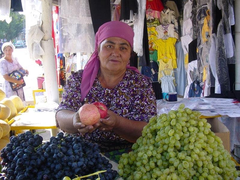 Market in Sairam village.