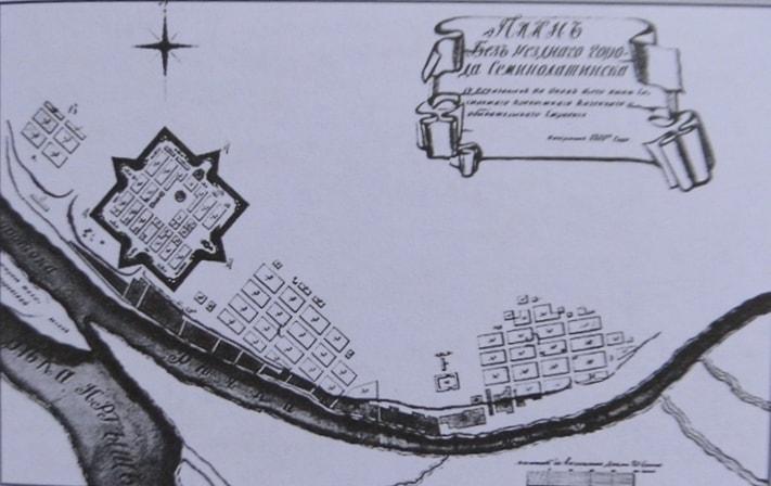 План-схема города Семипалатинск.