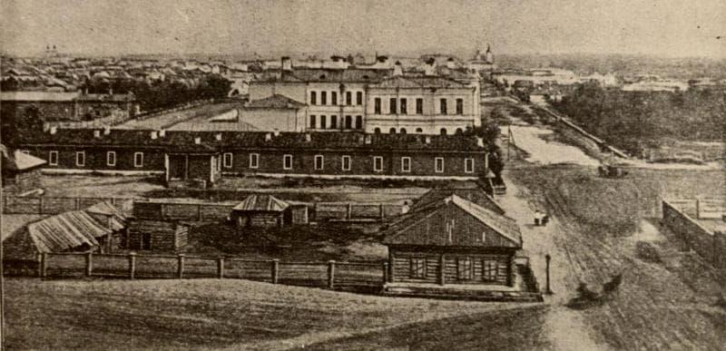 Вид на город Семипалатинск. Конец XIX века, автор фотографии неизвестен.