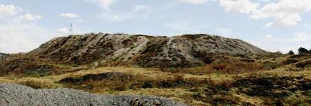 Остатки крепостной стены городища Шымкент.