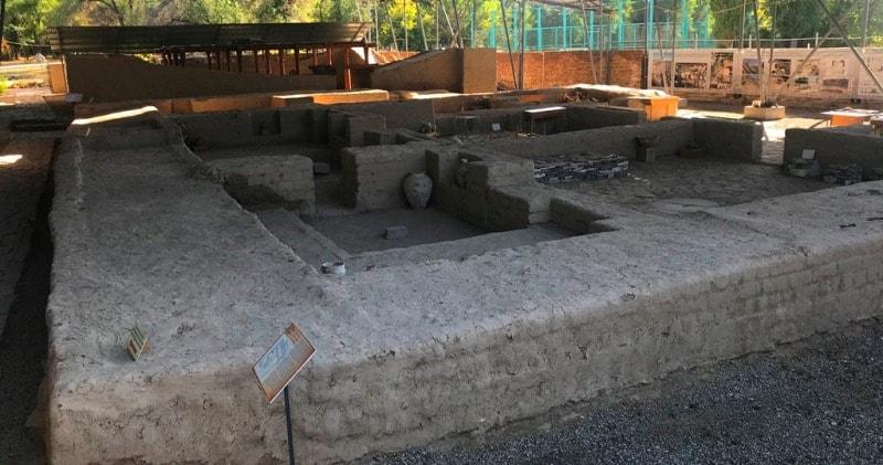 Caravanserai in Taraz.