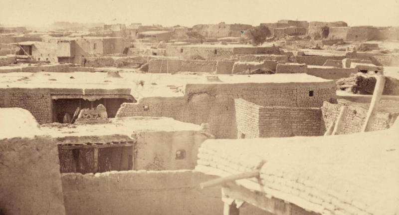 Hazret Yassavi mosque. Turkestan. 1870th. Constructions around a citadel.