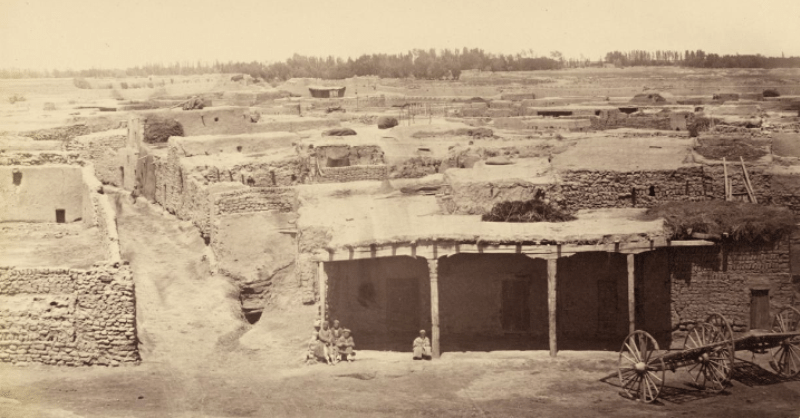 Мечеть Хазрета Яссави. Туркестан. 1870-е г.г. Туркестанский альбом Кауфмана.