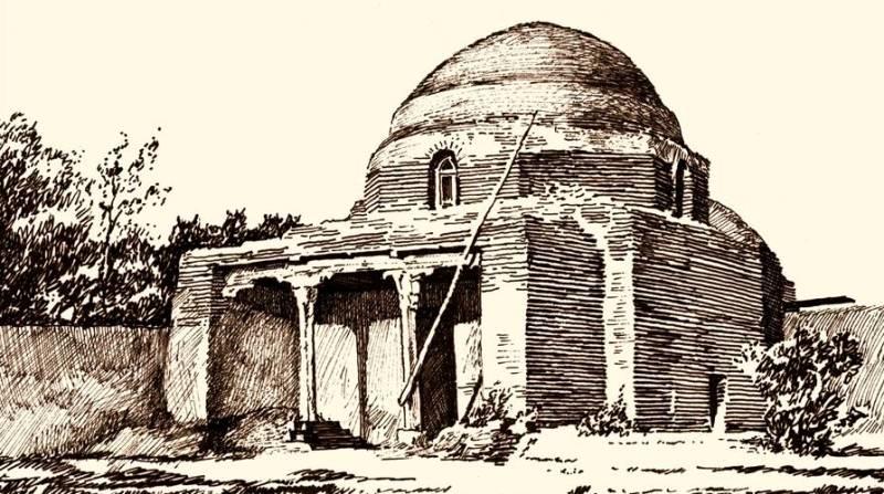 Ali Hodge's mausoleum. City of Turkestan. Nowadays does not exist. Orlabayev.