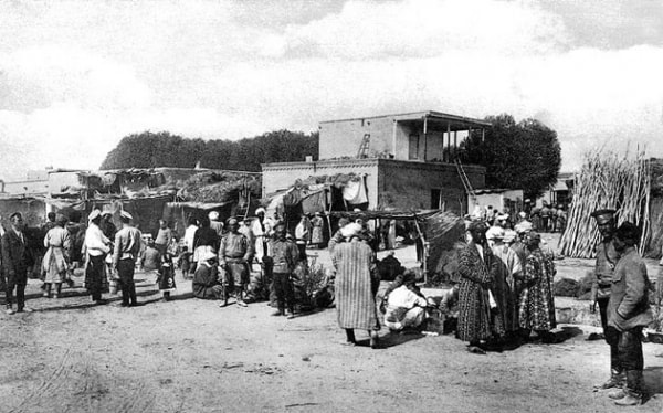 Turkestan market. 1870th.