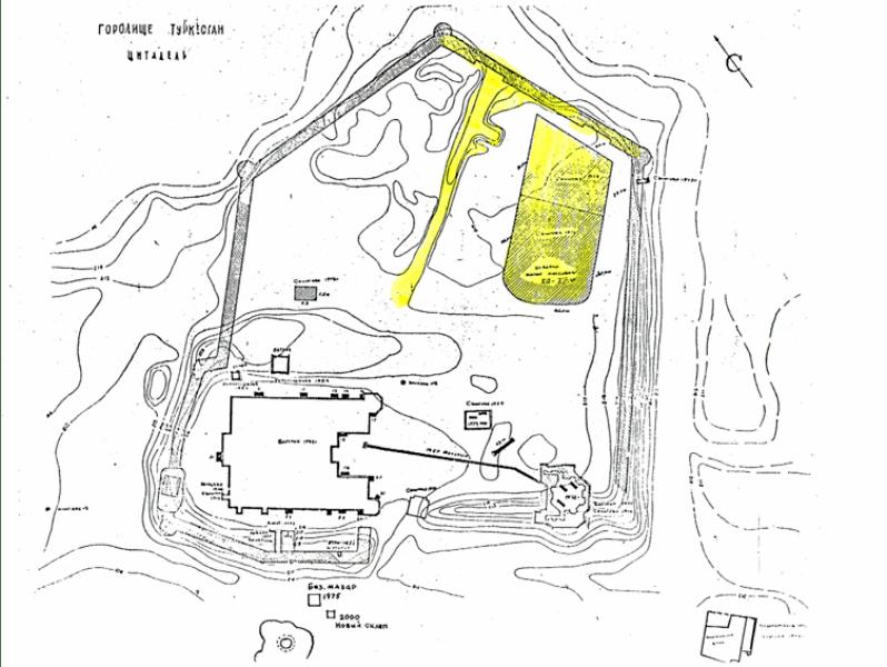 План города Туркестан.