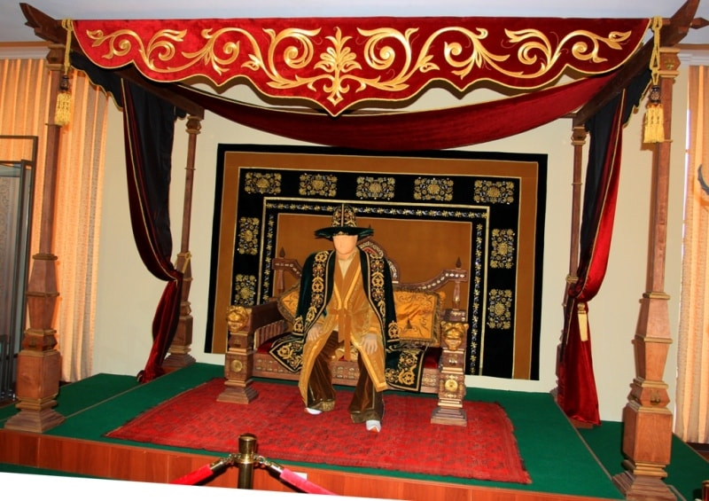 Exhibits in the historical and cultural and ethnographic center in Turkestan.