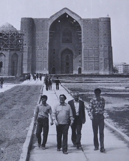 Mausoleum Akhmed Yassawi. 1985. During complex practice, on the 4th course of teacher's college of a name of Abay.