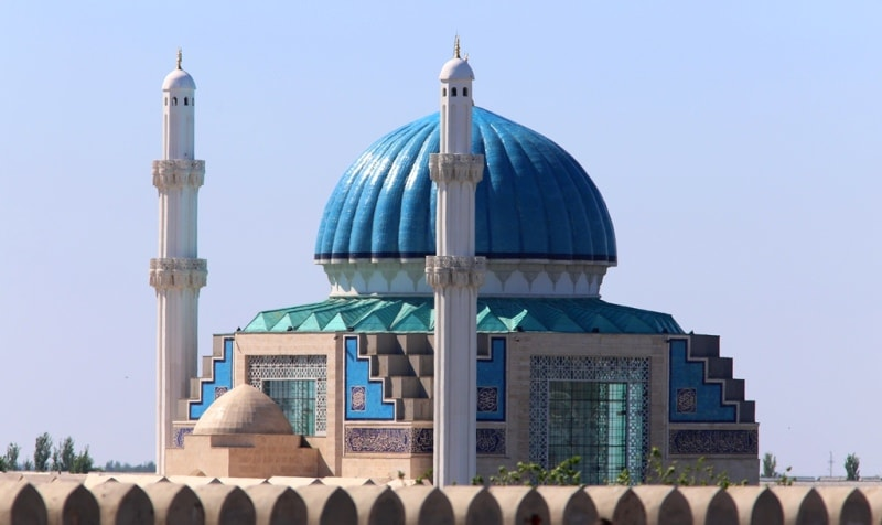 Ahmed Yassavi mosque in Turkestan.