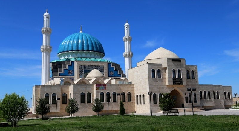 Mosque Akhem Yassavi in Turkestan.