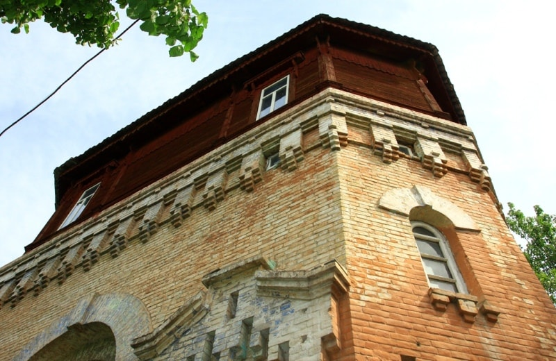 Details of Water tower of Turkestan.