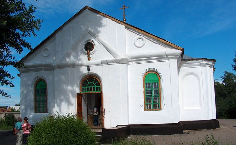 Свято-Троицкий храм в городе Оскемен.
