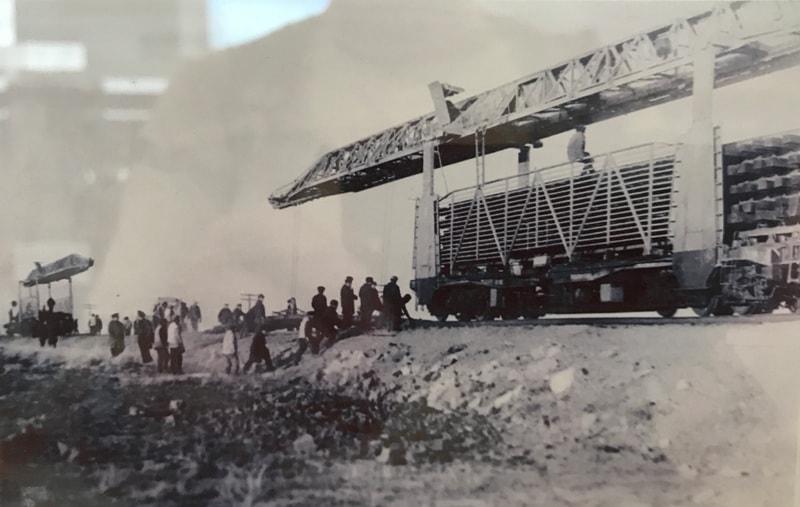 Строительство моста на Туркестанской железной дороге.