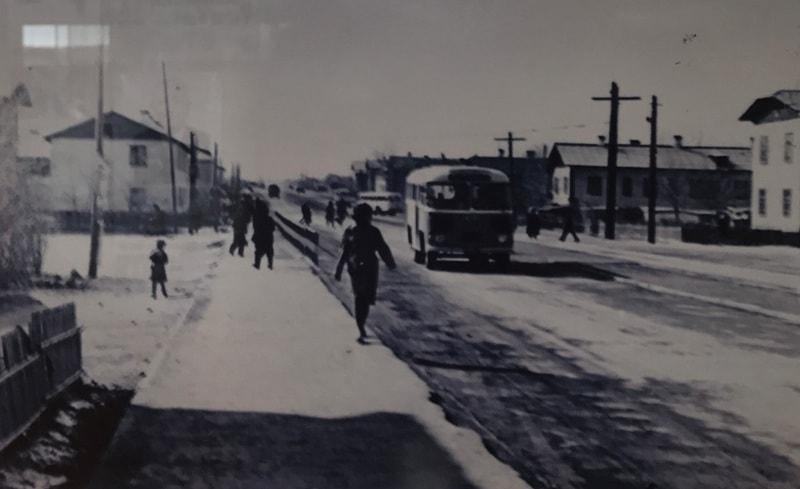 На улицах Аягоза. 70-ые годы прошлого столетия.
