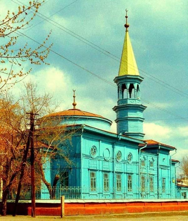Большая соборная мечеть в Семипалатинске, числившаяся под №7, построенная в 1852 году на средства прихожан.