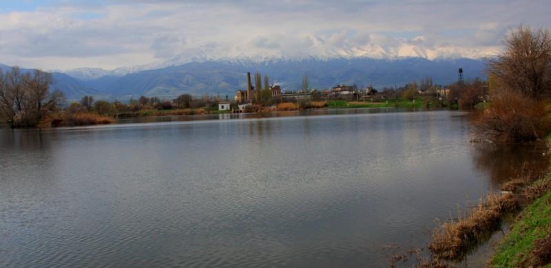 The lake in village Merke.