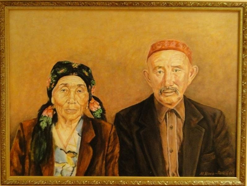 Картина художника в музее искусств имени А. Кастеева в Жаркенте.