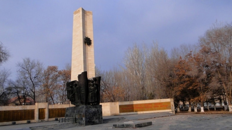 Monument to the Victory over city park Zharkent.