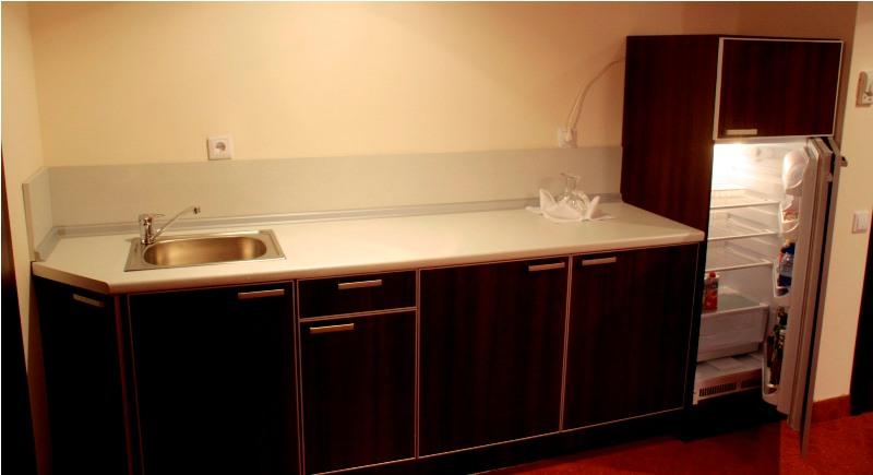 Кухня в номере полу-люкс стандарт.