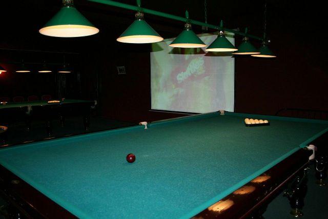Biliard room.
