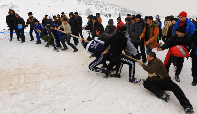 Traditional games of Kazakhs.