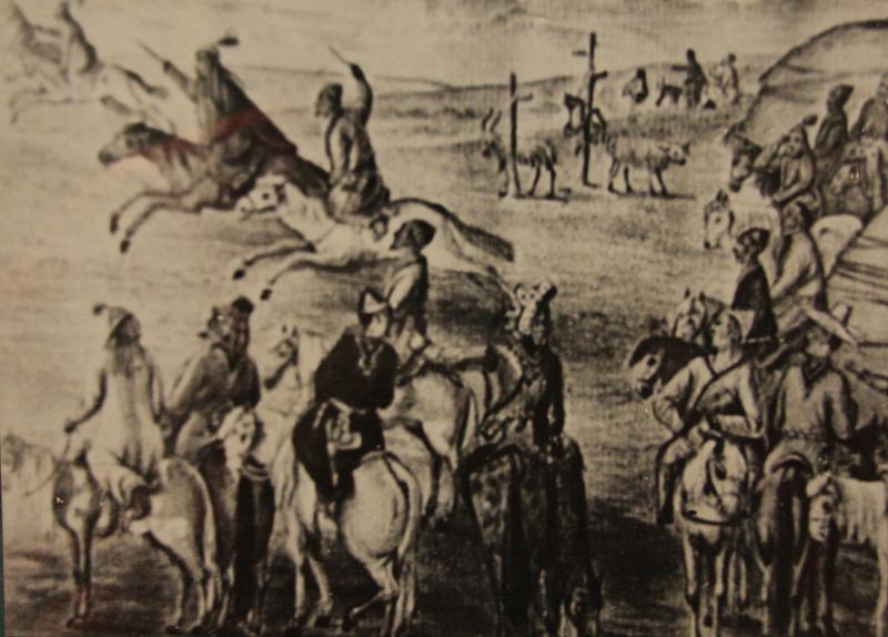 Photo of game kyz-kuu the end of XVIII century.