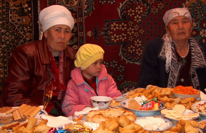 Dastarkhan Kazakhs.