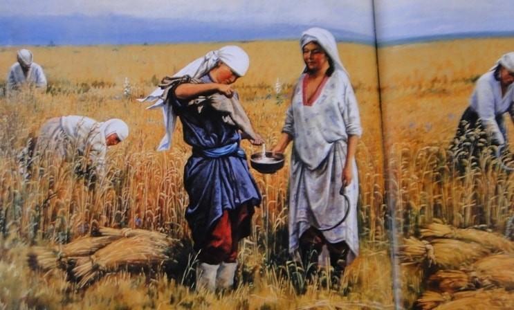 """Картина Хлудова. """"""""Кумыс в поле""""."""
