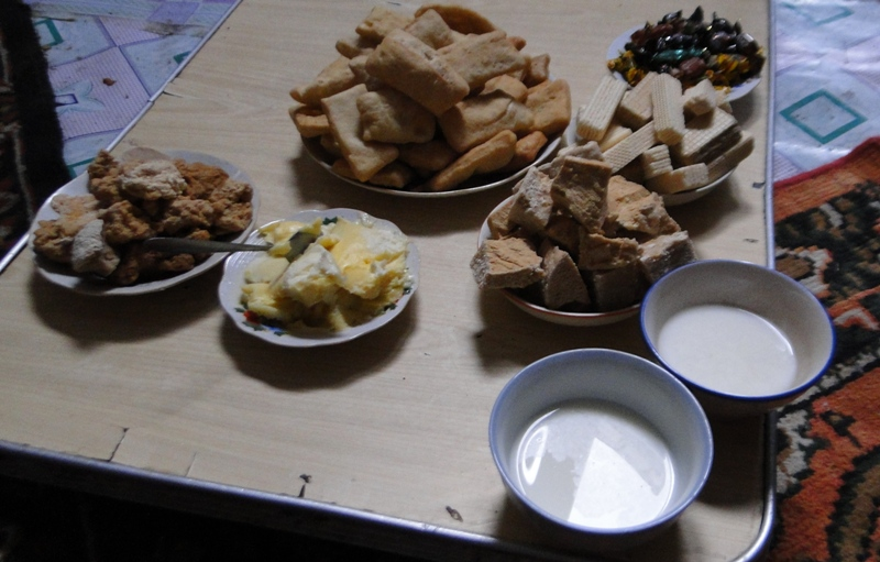 Traditional Kazakh drinks.