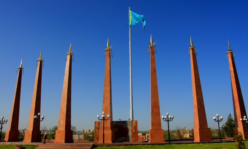 The area of Independence in Shymkent.