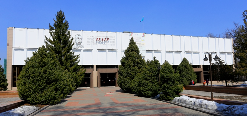 Building of drama theatre in Almaty.