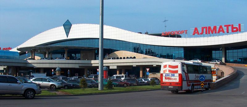 Airport in Almaty.