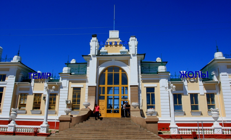 Train station in Kyzylorda town.