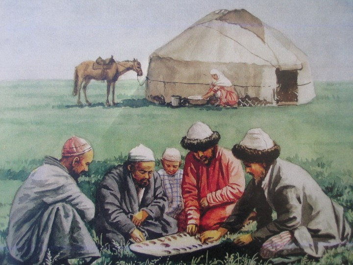 Culture of Kazakh people in pictures of Kazakhstan artist Nikolay Khludov.
