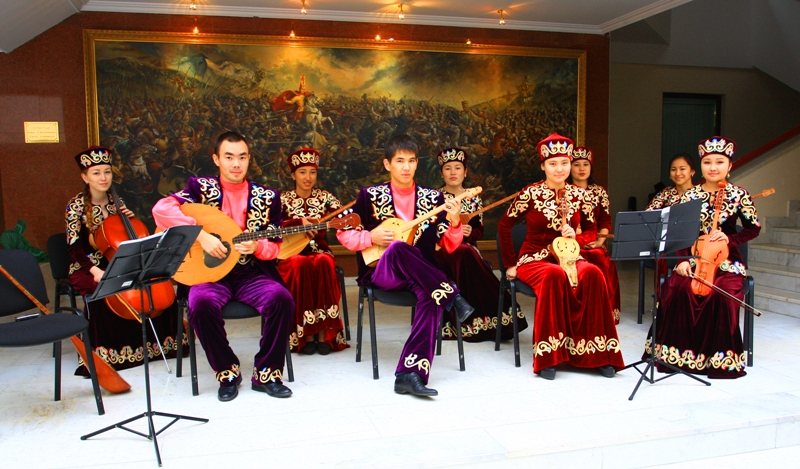 The Kazakh national musical collective.