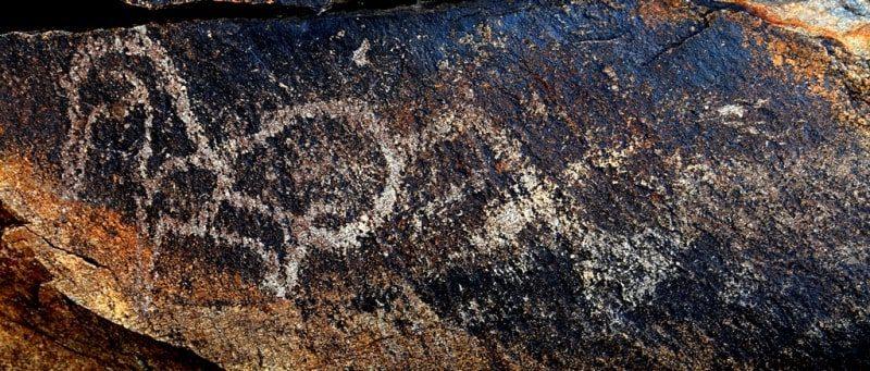Rock paintings of Zheltau.