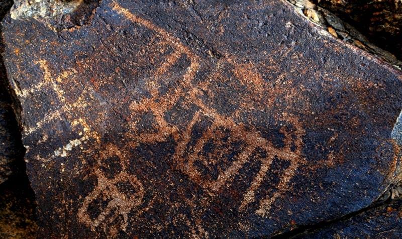 Zheltau petroglyphs.