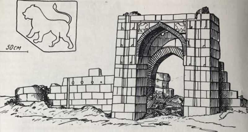Караван-сарай в Белеули. Портал. Первая половина XIV в. (по С. П. Толстову).