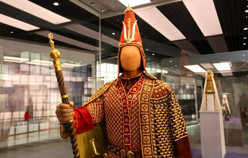 In history museum in Astana.