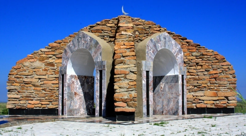 Mausoleums of Ulzhan & Zere in Zhidebai.