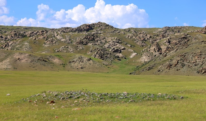 Ancient settlements and burial mounds Bayan-Zhurek.