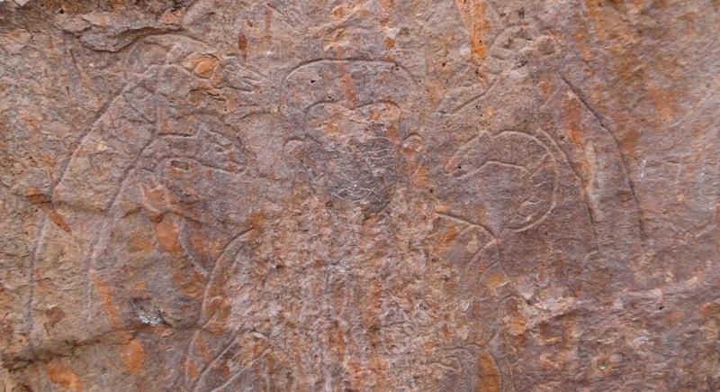 Tamgaly-tas Buddha images.