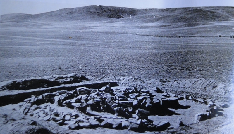 Archeological excavations on Tamgaly valley. 1950th years, XXth century.