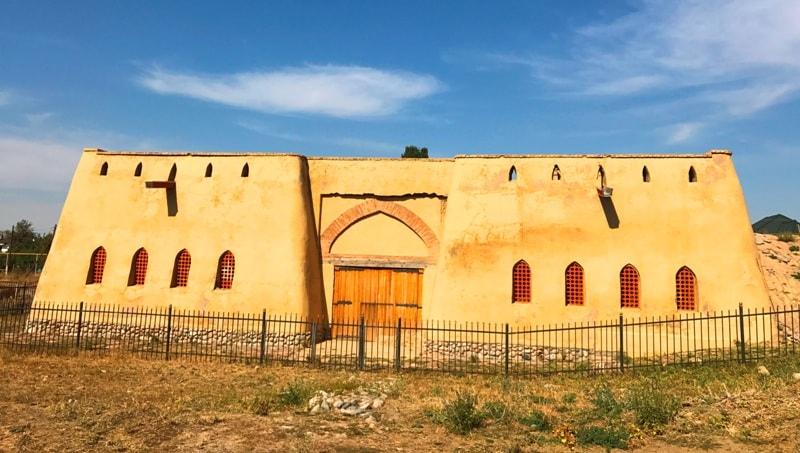 Имитация крепости на городище Тальхир.