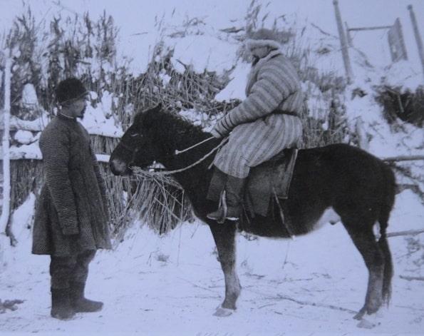 Kazakh on a horse. Lazari K.N. 1896